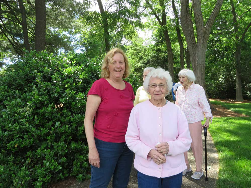 Norma and Cathy visit the park