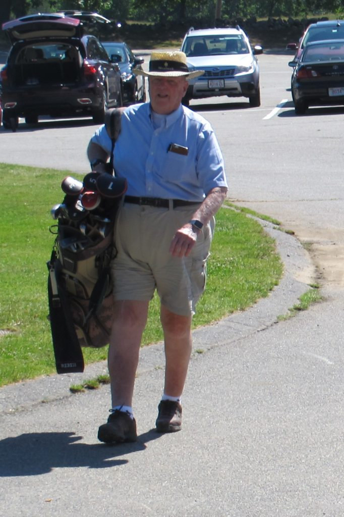 George is gearing up for the annual golf tournament