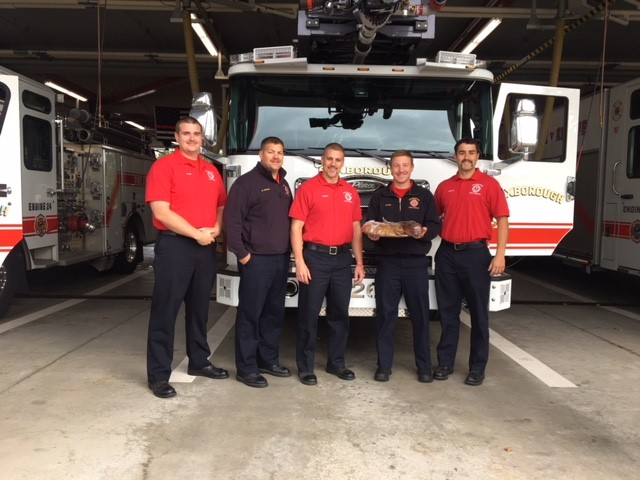 Firefighters get Doolittle Cookies