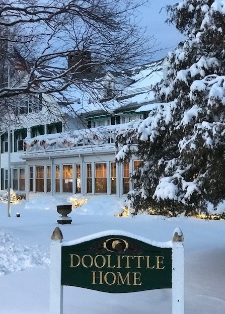 Doolittle Home in the snow