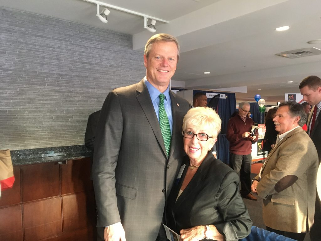 Fran with Governor Charlie Baker