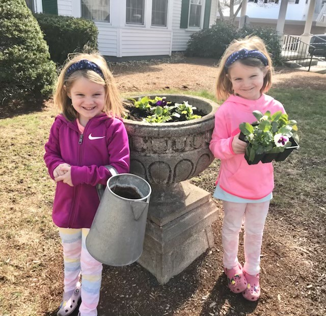 Evy and Edith welcome Spring